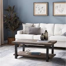 42 inch coffee table alaterre pomona reclaimed wood and metal 42 inch coffee table ebay