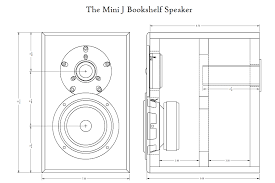 mini j two way bookshelf speakers parts express project gallery