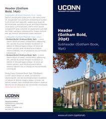 2 fold brochure template uconn templates brand standards