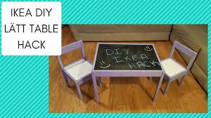 ikea diy diy ikea latt table hack youtube