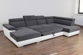 canapé d angle en canapé d angle en u gordon gris gris anthracite
