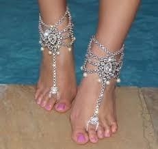 wedding barefoot sandals jeweled barefoot sandals wedding foot bling vacation jewelry