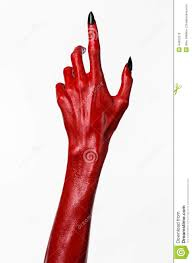 red devil u0027s hands with black nails red hands of satan halloween