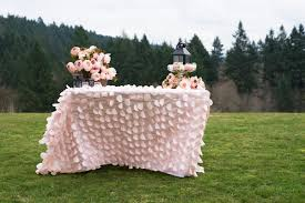 pale pink table cover blushing pink petal tablecloths pink petals