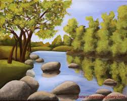 fine easy paintings of nature for beginners on home garden with pics for easy paintings of