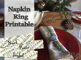 printable napkin rings from the carriage house christmas carol napkin rings printable