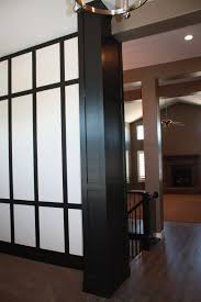 black painted wood columns we love the high gloss paint