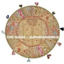 17 inch bohemain round floor pillows indian floor cushion seating
