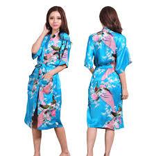 robe de chambre pas cher femme pas cher satin kimono peacock habiller robe longue