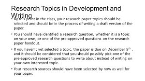 sources for writing a research paper research paper workshop research topics in development and 2 research topics in development and writing