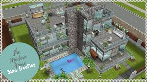 let u0027s build modern house sims freeplay youtube