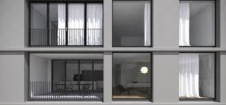 interior design visible from outside the apartment wall gray