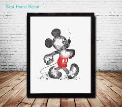 Hanging Wall Decor by Aliexpress Com Buy Mickey Mouse Art Paper Watercolor Painting