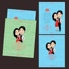 personalized caricature s cards for