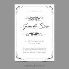 Wedding Invitation Cards Font Styles Ceremony Vectors Photos And Psd Files Free Download