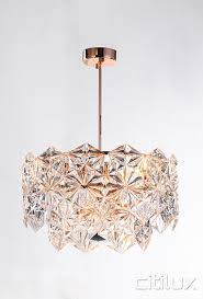 gold ceiling light fixtures impressing lighting australia mirka 6 lights pendant rose gold