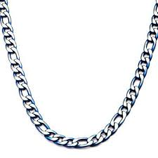 blue stainless steel necklace images Mens blue steel jewelry blue bracelets rings necklaces jpg