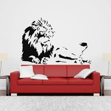 compare prices on lion decor home online shopping buy low price high quality home decor lion wall decal stickers removable home decor room mural sticker gw