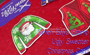simon says stamp christmas ugly sweater card lolli lulu crafts