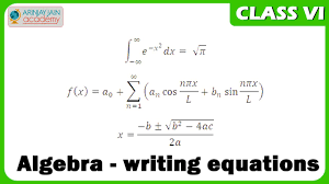 algebra writing equations maths class vi cbse isce ncert