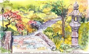 urban sketchers seattle peaceful japanese garden
