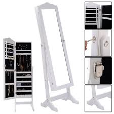 free standing jewellery armoire uk costway rakuten costway lockable mirrored jewelry cabinet