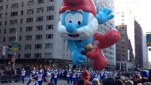 thanksgiving day parade nyc papa smurf float during new york city macy u0027s thanksgiving day