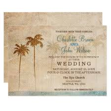 palm tree wedding invitations palm trees wedding invitations announcements zazzle