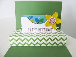 Birthday Card Holder Stin Up Flower Frenzy Gift Card Holder Video Tutorial