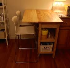 Drop Leaf Table Brace Kitchen Cart With Drop Leaf Extension Ikea Hackers