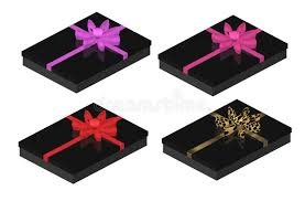boxes with bows black gift boxes with bows stock illustration illustration of