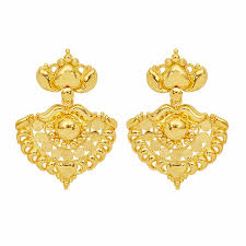 gold earrings online try it online gold fancy swing earrings grt jewellers