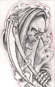 grim reaper in smoke tattoo design photo 1 2017 real photo