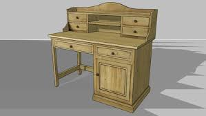 bureau bois recyclé bureau enfant bois recyclé noisette maisons du monde réf 135630