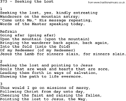 Seeking Song Adventist Hymnal Song 373 Seeking The Lost With Lyrics Ppt