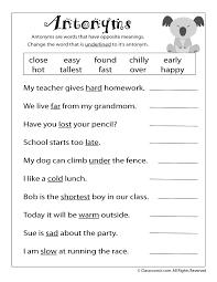 second grade english worksheets worksheets