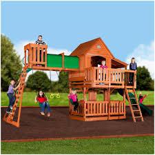 backyards bright backyard discovery playsets woodridge ii wooden