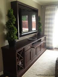 Modern Tv Units For Bedroom Custom Entertainment Center And Framed Tv Backdrop Stacey U0027s