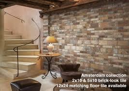a modern twist on an favorite brick look porcelain