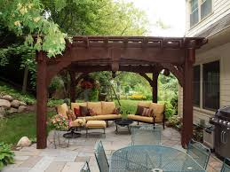 Open Patio Designs by Comfortable Open Patio Terrace With Pergola Roof Nice Pergola