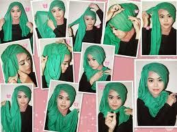 tutorial hijab paris ke pesta hijab pashminaa cara berhijab paris untuk wajah bulat images
