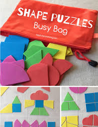 shape puzzles busy bag craft foam busy bags and bag