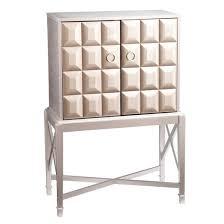 Silver Bookcase Glam Prospect Bar Cabinet Metallic Silver Aiden Lane Target