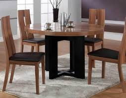 round kitchen table sets for 6 white varnished wooden wall mounted