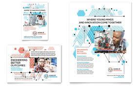 computer engineering flyer u0026 ad template design