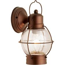 Hampton Bay Outdoor Light Fixtures by Hampton Rustico Lantern Outdoor Lighting Aged Bronze Walmart Com