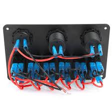 amazon com 6 gang waterproof car marine boat circuit blue led