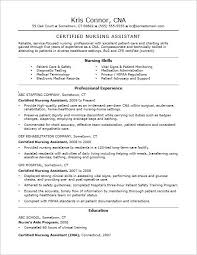 Job Description Of A Cna For Resume by Nursing Assistant Resume Example Certified Nursing Assistant