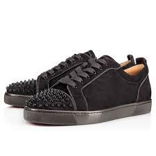 Flat Tennis Shoes Louis Junior Spikes Orlato Flat Fusain Fusain Veau Velours Men
