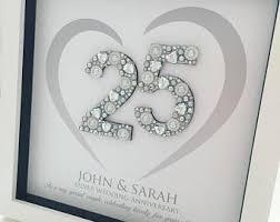 25 wedding anniversary gifts 25th anniversary etsy
